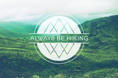 Always Be Hiking Logo by Amy Young, via Behance-- Inspiration for Mt…