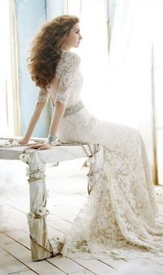 Jim Hjelm Bridal Gowns, Wedding Dresses by JLM Couture, Inc. Beautiful Wedding Gown With a Gorgeous KeyHole back! Jim Hjelm Wedding Dresses, Lace Back Wedding Dress, Sweetheart Wedding Dress, Elegant Wedding Dress, Wedding Gowns, Dress Lace, Mermaid Wedding, Romantic Lace, Wedding Bride