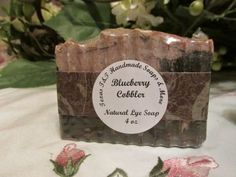Texas T&T Blueberry Cobbler Natural Home Made Lye Soap 4 oz by TexasTAndT on Etsy