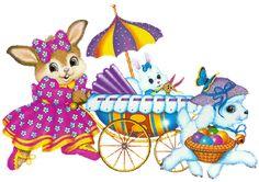 Tarjetas de Conejos De Pascua