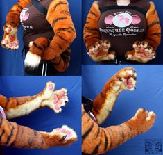 Oceantiger11 Paws:Arms:Tail by ~FarukuCostumes