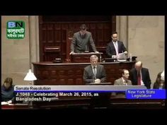 New York State Senate Recognises Ziaur Rahman as the Declarer of the Ind...