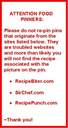 Attention Food Pinners......
