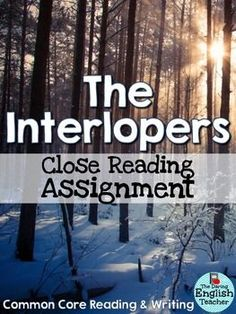 Close reading assignment
