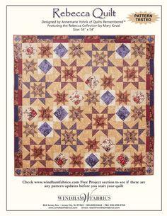 Rebecca Quilt by Annemarie Yohnk, free pattern