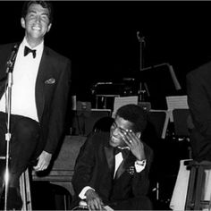 Dean Martin and Sammy Davis Jr. In the Copa room at the Sands Hotel in Las Vegas.