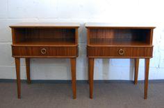 Exceptional Pair of Mahogany Night Stands or End Tables | From a unique collection of antique and modern night stands at http://www.1stdibs.com/furniture/tables/night-stands/