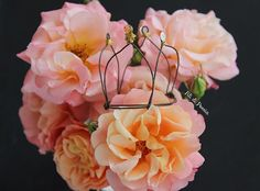 Just need a little crown to feel good and some pretty peachy roses too - Buongiorno principessa!