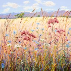 pastel paintings | roadside flora pastel painting 16 x 16 inches tamaracks pastel