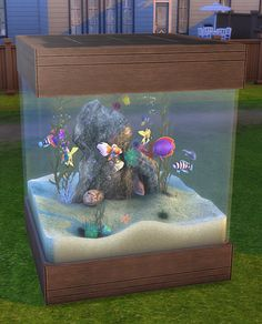The Sims 4 | simsworkshop 50 Gallon Aquarium 2t4 conversion | buy mode activities - Spa Day GP02 required