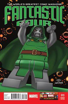 Marvel Previews for October 16 2013: Fantastic Four #13 lego variant cover