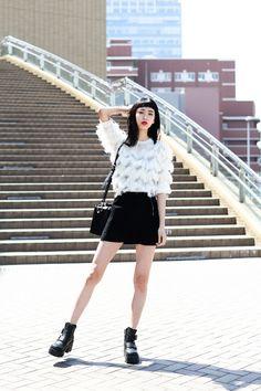 ストリートスナップ大阪 - 晶さん - EMODA, UNIF, ZARA, エモダ, ザラ, ユニフ
