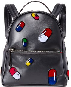 les petits joueurs Mini Mick Pills Backpack , pill bag, pill , funky colors , cool designs , back back pack , bag,