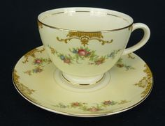 Aristocrat by Homer Laughlin Co China Cup and Saucer Eggshell Nautilus