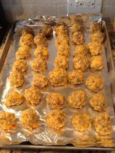 Gluten Free Bisquick Sausage & Cheese Balls   http://glutenfreeinorlandoflorida.blogspot.com/2014/01/gluten-free-sausage-cheese-balls.html