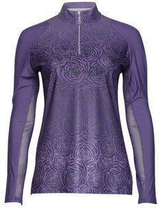 If you're in the market for some new outfits, consider our women's apparel! Shop this comfortable and stylish SOMEDAY MY PRINTS WILL COME (Grape) Bette & Court Ladies Tara Long Sleeve Mock Golf Shirt from Lori's Golf Shoppe.