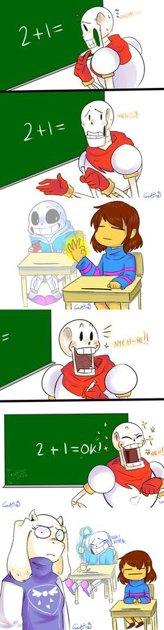 Undertale - Papyrus Attempts Math....  Source: http://gakime.tumblr.com/post/144978690502/at-least-he-tried