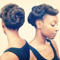fuckyeahnaturalhair:  Loc Hairstyle Tutorial: Barrel Roll Updo (via Chescalocs)