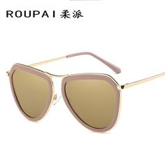240527045d2 Click to Buy    ROUPAI 2017 Round Metal Sunglasses Steampunk Men Women  Fashion Glasses Brand Designer Retro Vintage Polarized Sunglasses 0879   Affiliate