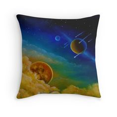 Throw Pillow,  home,accessories,sofa,couch,decor,cool,beautiful,fancy,unique,trendy,artistic,awesome,fahionable,unusual,gifts,presents,for sale,design,ideas,items,products,colorful,blue,space,universe,planets,sky,redbubble