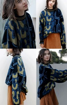 vintage sweater inspiration - just crazy about the colours, the marl yarns and the pattern
