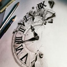 Tattoo Compass Drawing Design Clock 26 Ideas Black And White