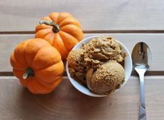 Pumpkin Ice Cream - Consider Me Fit - PIN and FOLLOW! (Vegan, Sugar Free, Dairy Free, Healthy Ice Cream Recipe)  http://www.considermefit.com/articles/Pumpkin_Ice_Cream_vegan_low_carb_sugar_free
