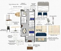 When our friends at GRAY magazine, a modern design publication in Seattle, moved to a new office, we jumped at the chance to help them furnish it. Office Org, Grey Office, Office Boards, Mood Boards, Office Floor Plan, Cheap Office Decor, Office Ideas, Salon Interior Design, White Desks
