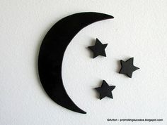 Moon and Stars Nursery Decor ANY COLOR: This wooden moon and stars is hand-cut for a one of a kind art piece. No lasers here, just an old scroll saw and some sand paper to smooth out the edges. Please choose your color preference from the drop down menu above. If you don't see a color you need, just include it at checkout.