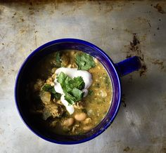 Roasted Tomatillo and White Bean Chili with ground turkey  chaos in the kitchen