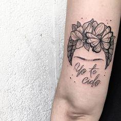 Phrase: I heaven you by Frida Kahlo Mom Baby Tattoo, Baby Tattoos, Sister Tattoos, Couple Tattoos, Body Art Tattoos, Sleeve Tattoos, Tatoos, Frida Tattoo, Frida Kahlo Tattoos