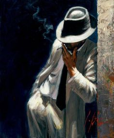 Man in a White Suit by Fabian Perez- classic.....Ed Harris could pull this off.: