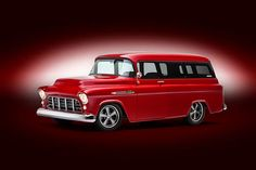 Photo feature on a 1955 Chevy Suburban.