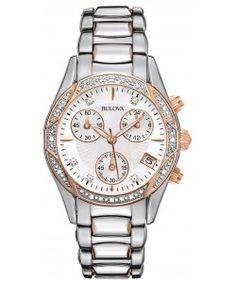 Bulova Diamond Ladies Anabar Chronograph Watch (98R149) Bulova Watches, Chronograph, Diamond, Diamonds