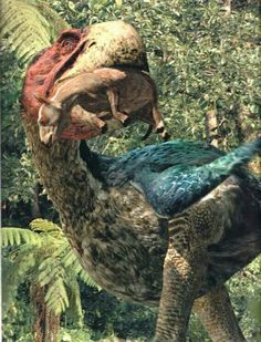 """Part of the BBC Documentary """"Walking with Beasts"""". During the Eocene, mammals were still mainly small-sized, while birds like Gastornis could grow as tall as. Prehistoric World, Prehistoric Creatures, Vida Animal, Walking With Dinosaurs, Extinct Animals, Extinct Birds, Dinosaur Fossils, Jurassic Park World, The Good Dinosaur"""