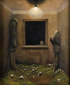 Creepy Art, Weird Art, Arte Horror, Horror Art, Arte Lowbrow, Dark Paintings, Psy Art, Arte Obscura, Surrealism Painting
