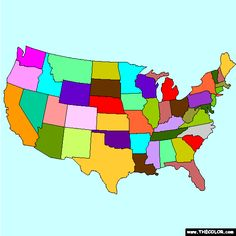 New Unites States Map Coloring Page Can You Name All Of The 50 States