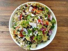 Quinoa Black Bean Avocado Salad