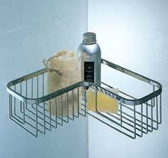 Colombo Design Single Corner Shower Basket from Cabinet Knobs and More