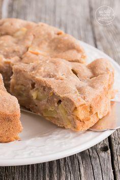 Veganer Apfelkuchen ohne Zucker