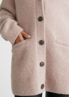 Oversized Wool Knit Cardigan - Beige - Cardigans - & Other Stories GB