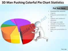 Pie Chart Templates 3D Men Standing On Bar Graph Meeting Ppt Graphics I…  3D Man .
