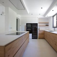 90 of the best kitchen decoration ideas you can try easily in your home 32 Kitchen Room Design, Kitchen Interior, New Kitchen, Kitchen Dining, Kitchen Decor, Kitchen Island, Kitchen Ideas, Kitchen Cabinets, Contemporary Kitchen Design
