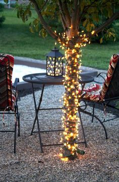 Cute ways to cozy up your outside entertaining areas!