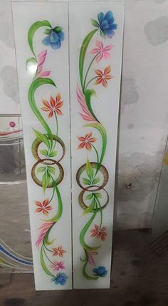 Glass Painting Designs, Pooja Room Door Design, Bathroom Window Glass, Glass Etching Designs, Glass Design, Back Painted Glass, Glass Doors Interior, Door Glass Design, Window Glass Design