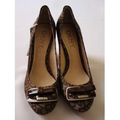 Women Shoes DNKY Brown