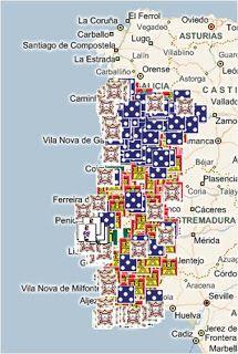 Mapa dos castelos e fortalezas de Portugal  #viagem #turismo #lugar #lugares #visitar #ferias #morar #trabalhar #portugal  #tuga #viajar #dicas