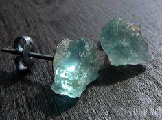 Aquamarine Druzy Earrings By Beijo Flor