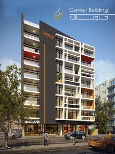 Süper olmuş Building Elevation, Building Exterior, Building Facade, Building Design, Colour Architecture, Futuristic Architecture, Facade Architecture, Residential Architecture, Small Buildings