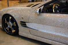 gold details on a car